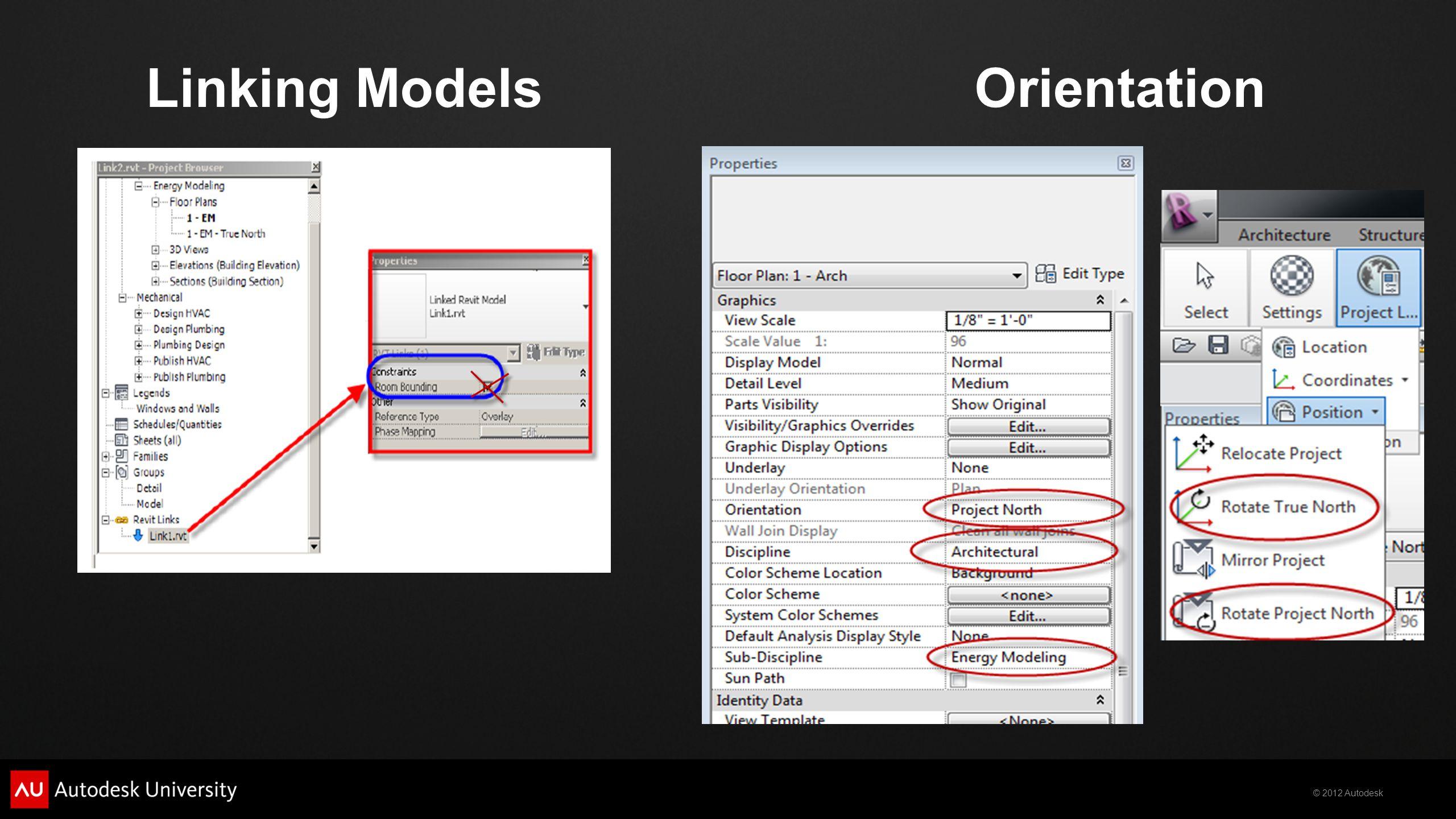 Linking Models Orientation