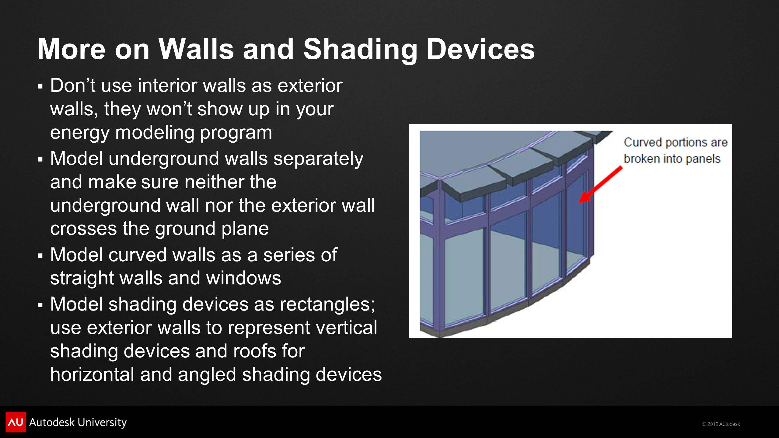 More on Walls and Shading Devices
