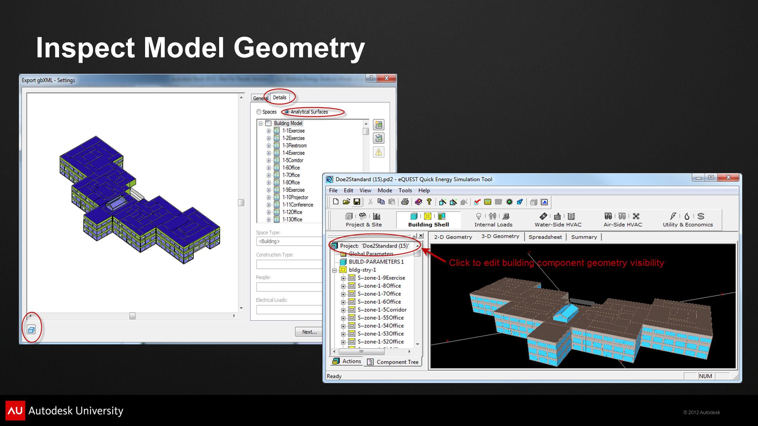 Inspect Model Geometry
