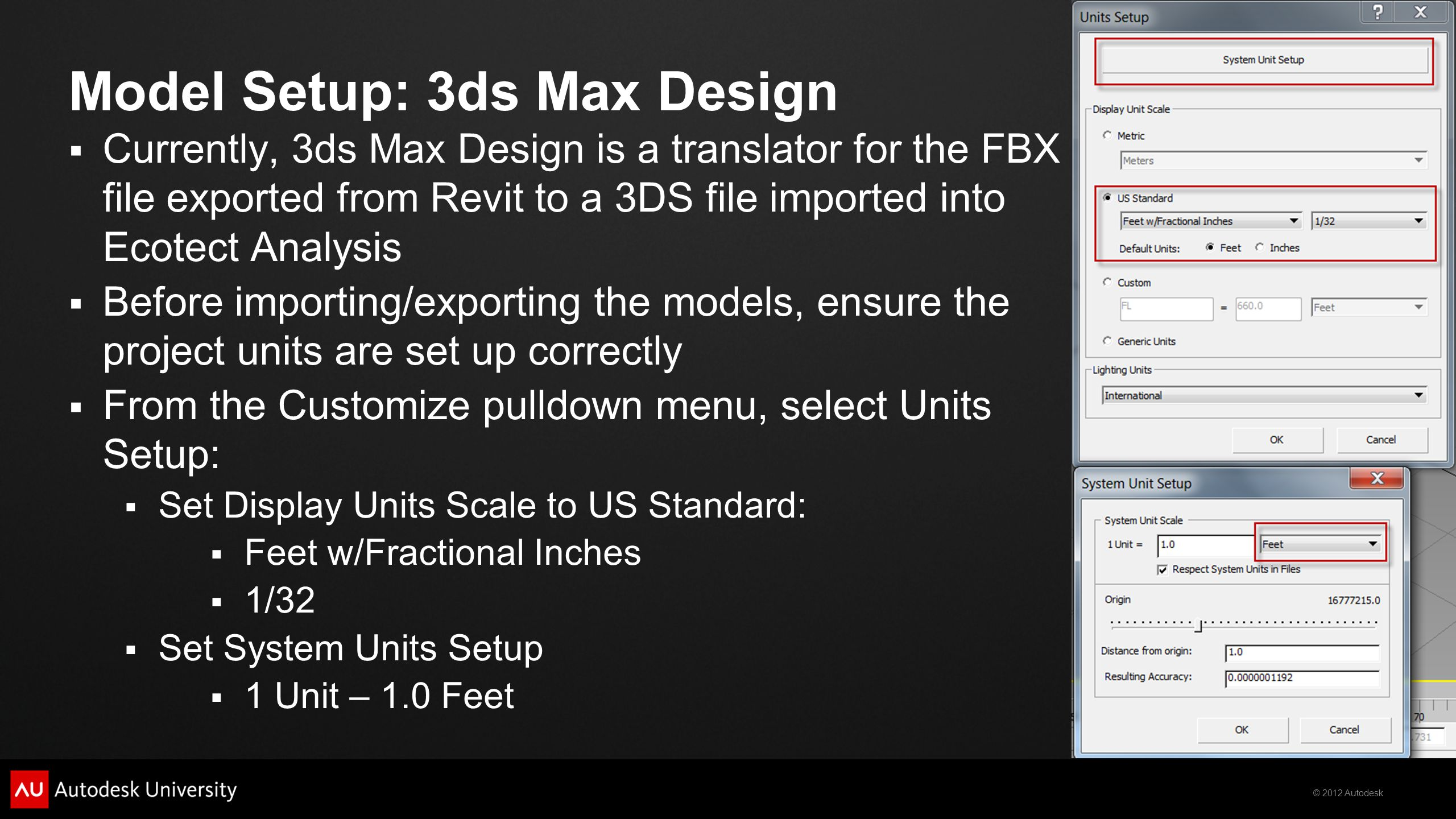 Model Setup: 3ds Max Design