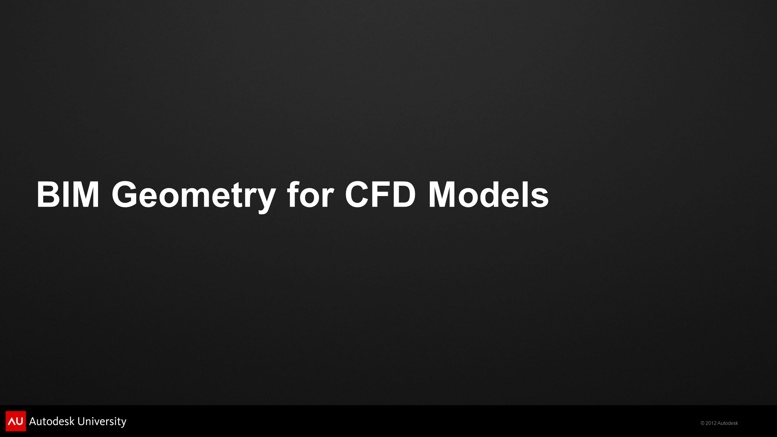 BIM Geometry for CFD Models