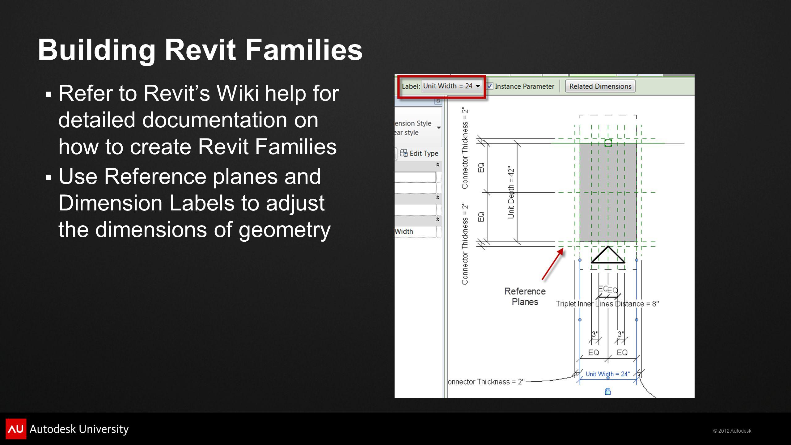 Building Revit Families