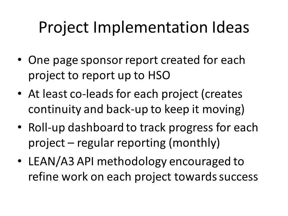 Project Implementation Ideas