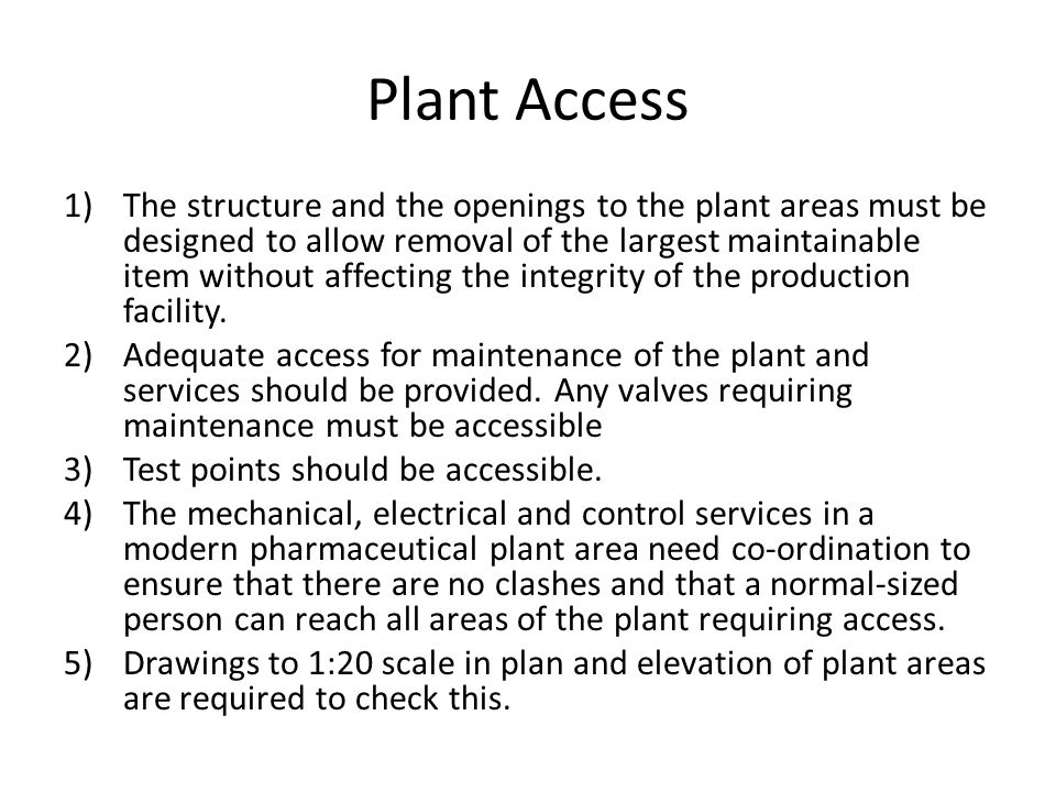 Plant Access