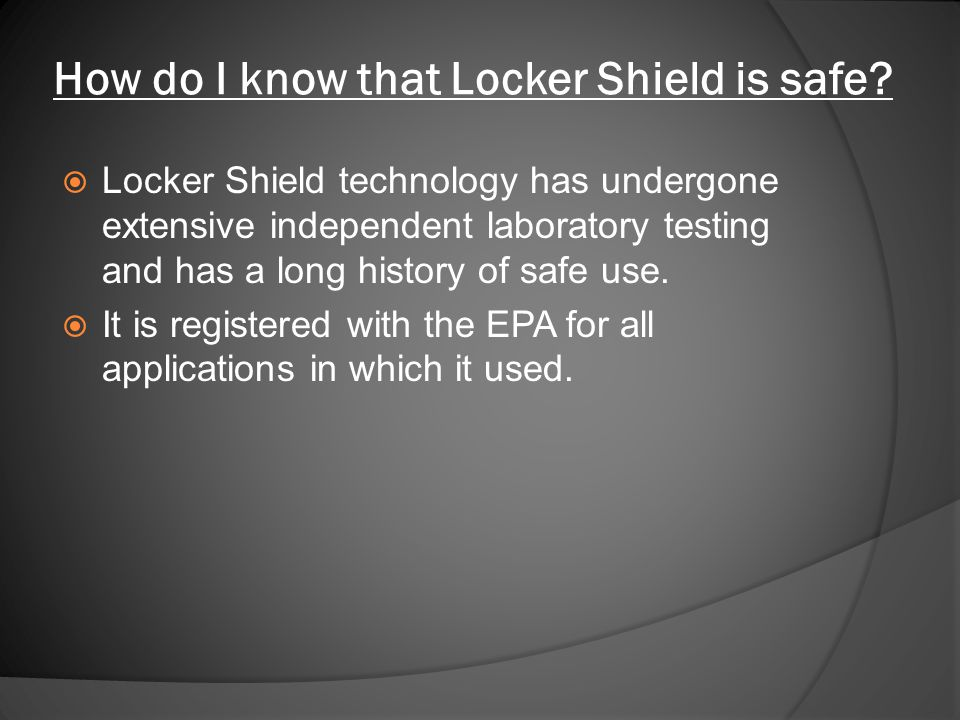 How do I know that Locker Shield is safe