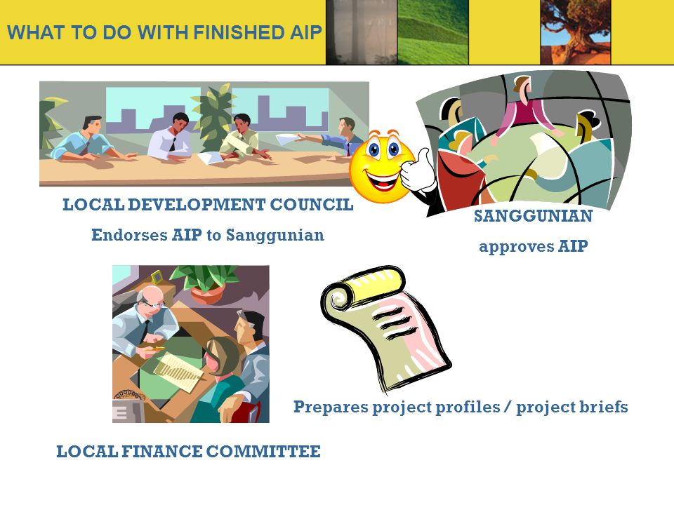 WHAT TO DO WITH FINISHED AIP