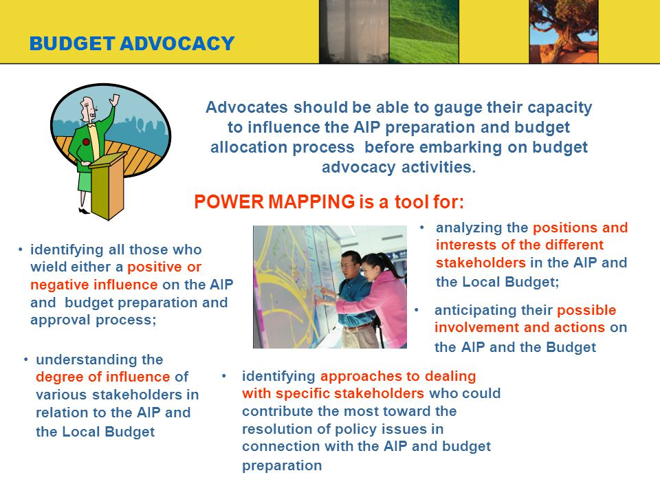 POWER MAPPING is a tool for: