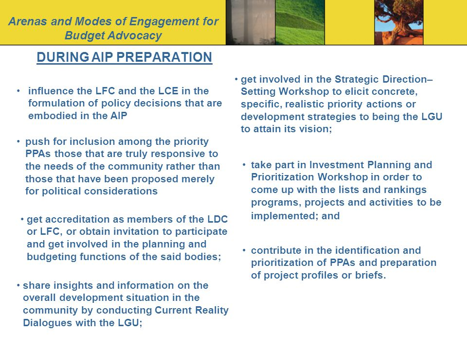 DURING AIP PREPARATION