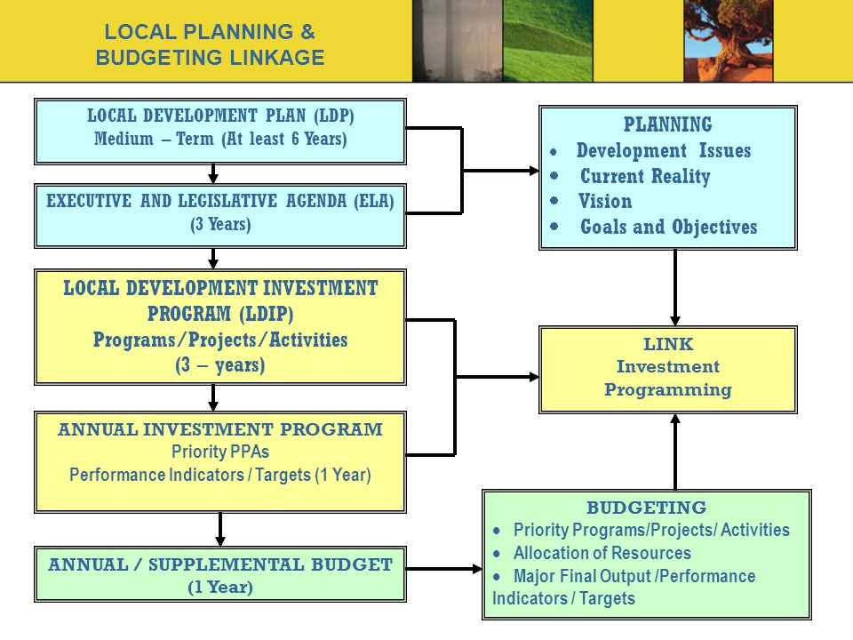 LOCAL PLANNING & BUDGETING LINKAGE