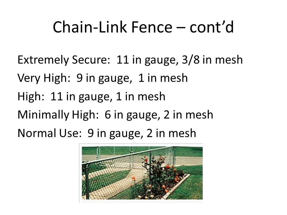 Chain-Link Fence – cont'd