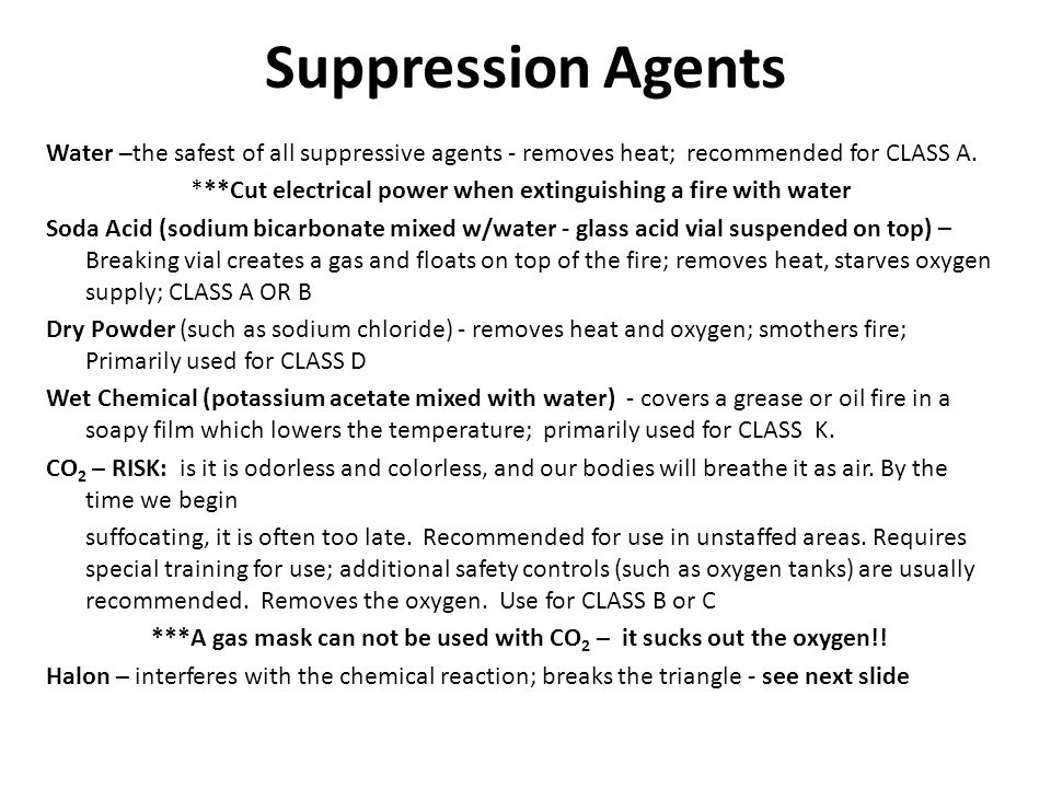 Suppression Agents