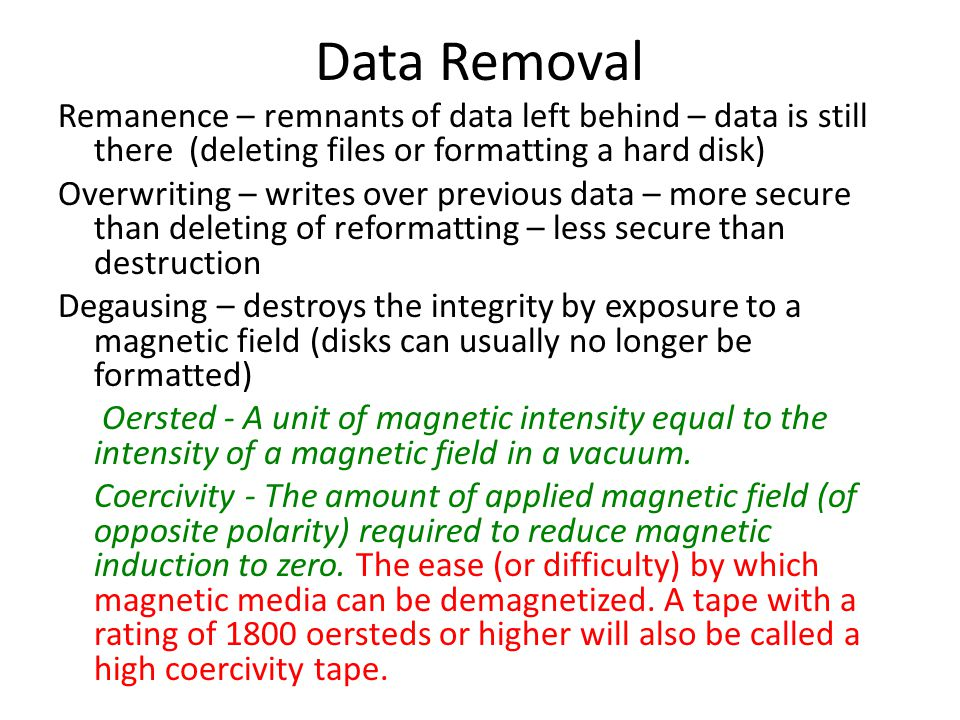 Data Removal