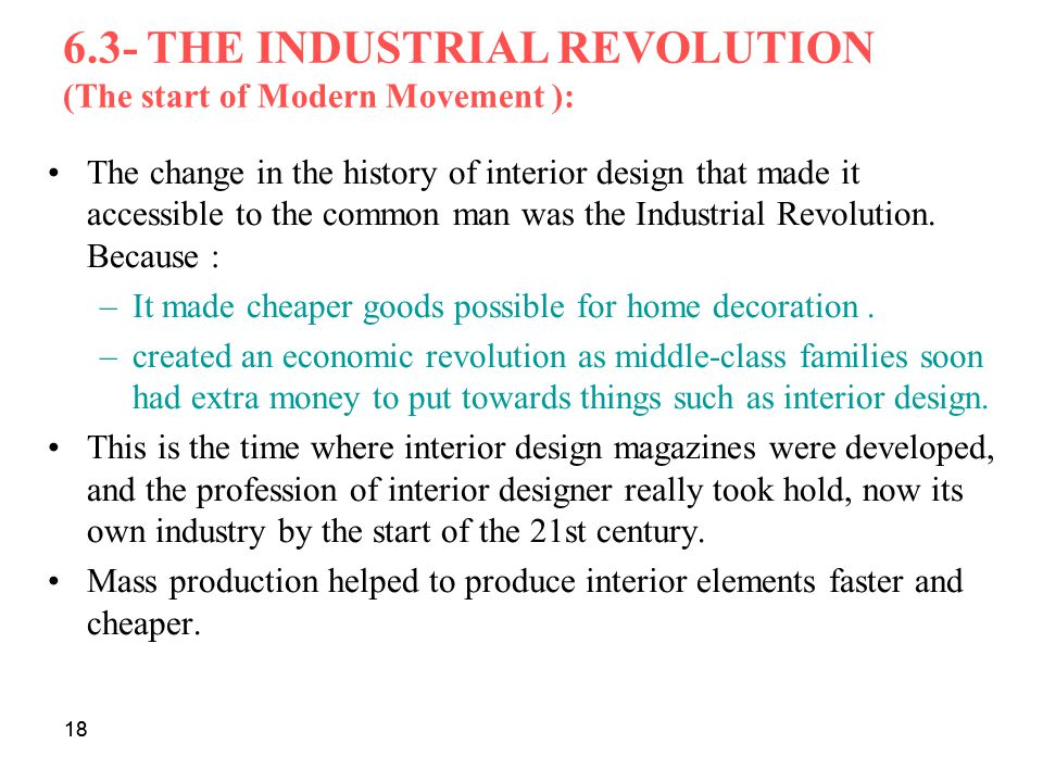 6.3- THE INDUSTRIAL REVOLUTION