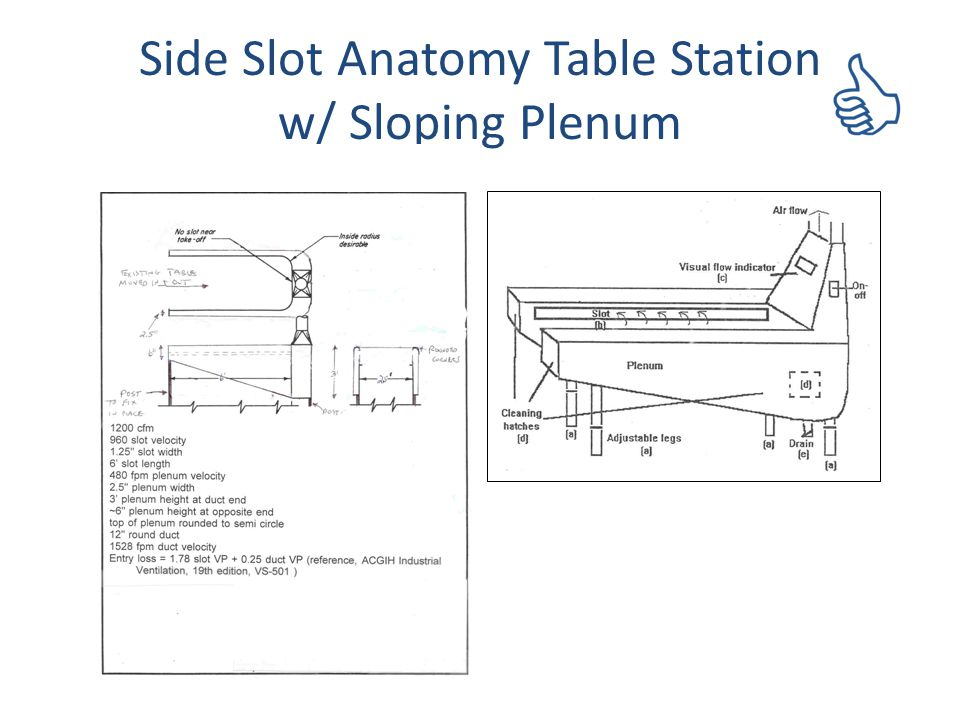 Side Slot Anatomy Table Station w/ Sloping Plenum