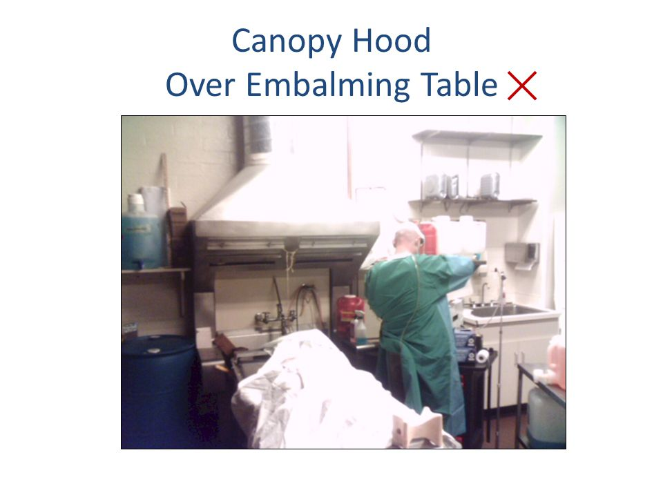 Canopy Hood Over Embalming Table