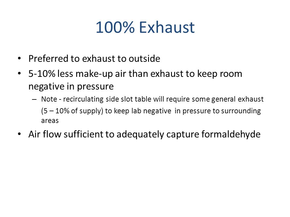 100% Exhaust Preferred to exhaust to outside
