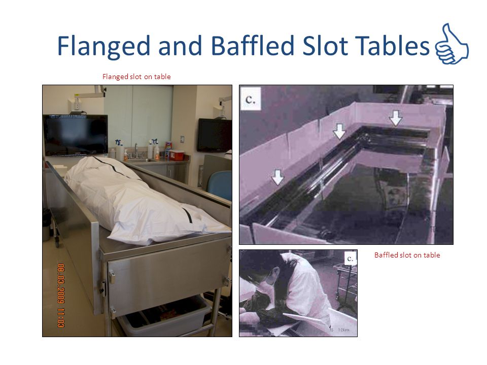 Flanged and Baffled Slot Tables