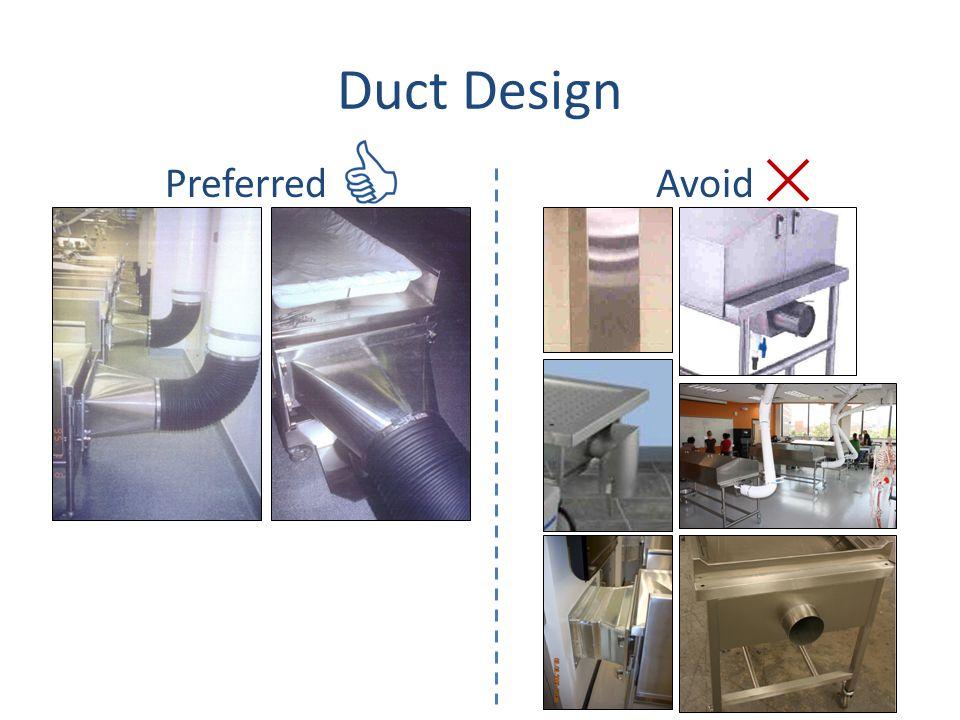 Duct Design Preferred Avoid