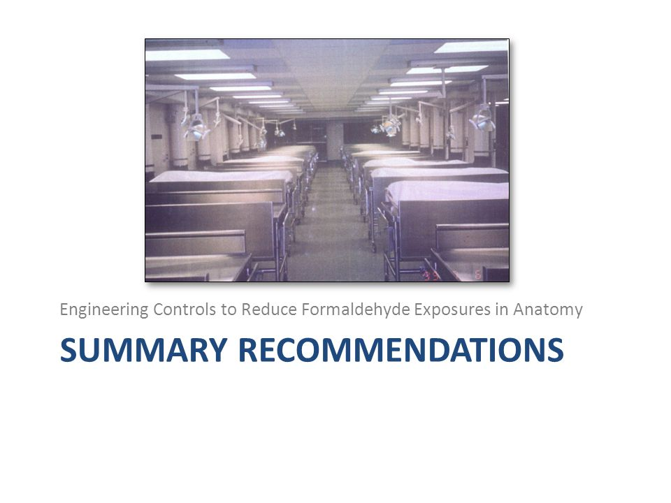 Summary recommendations
