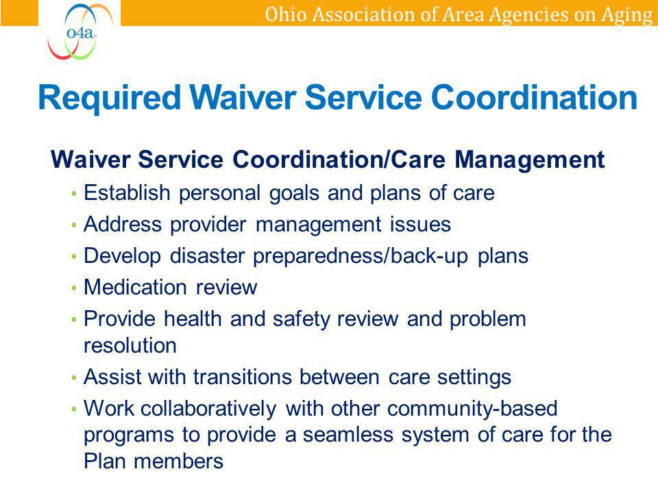 Required Waiver Service Coordination