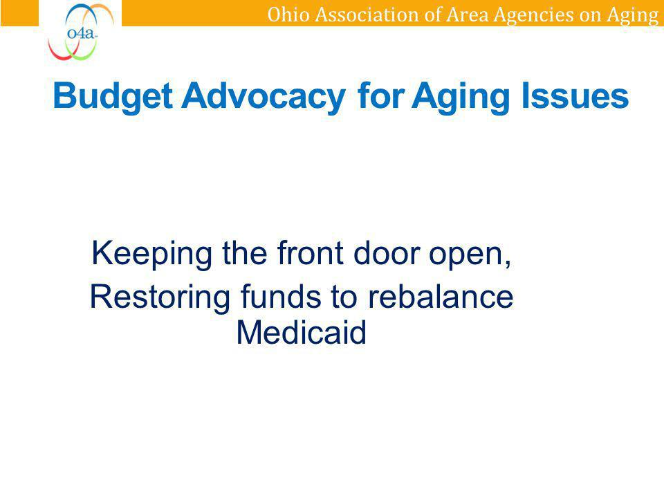 Budget Advocacy for Aging Issues