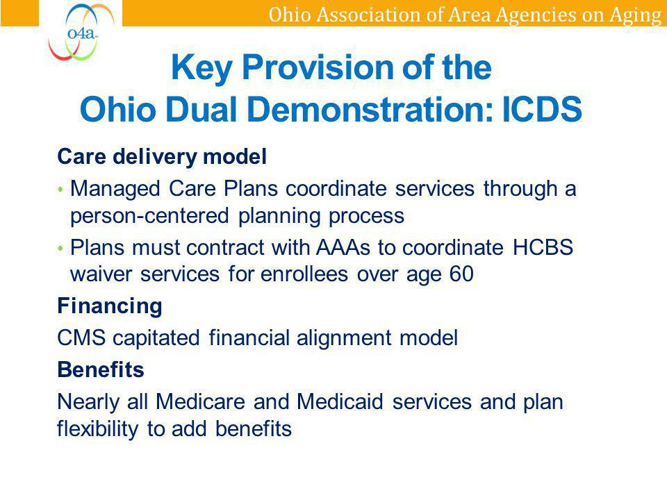 Key Provision of the Ohio Dual Demonstration: ICDS