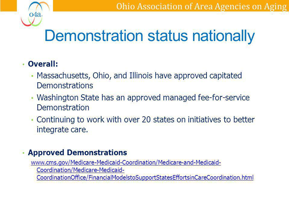 Demonstration status nationally