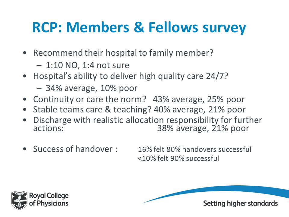 RCP: Members & Fellows survey