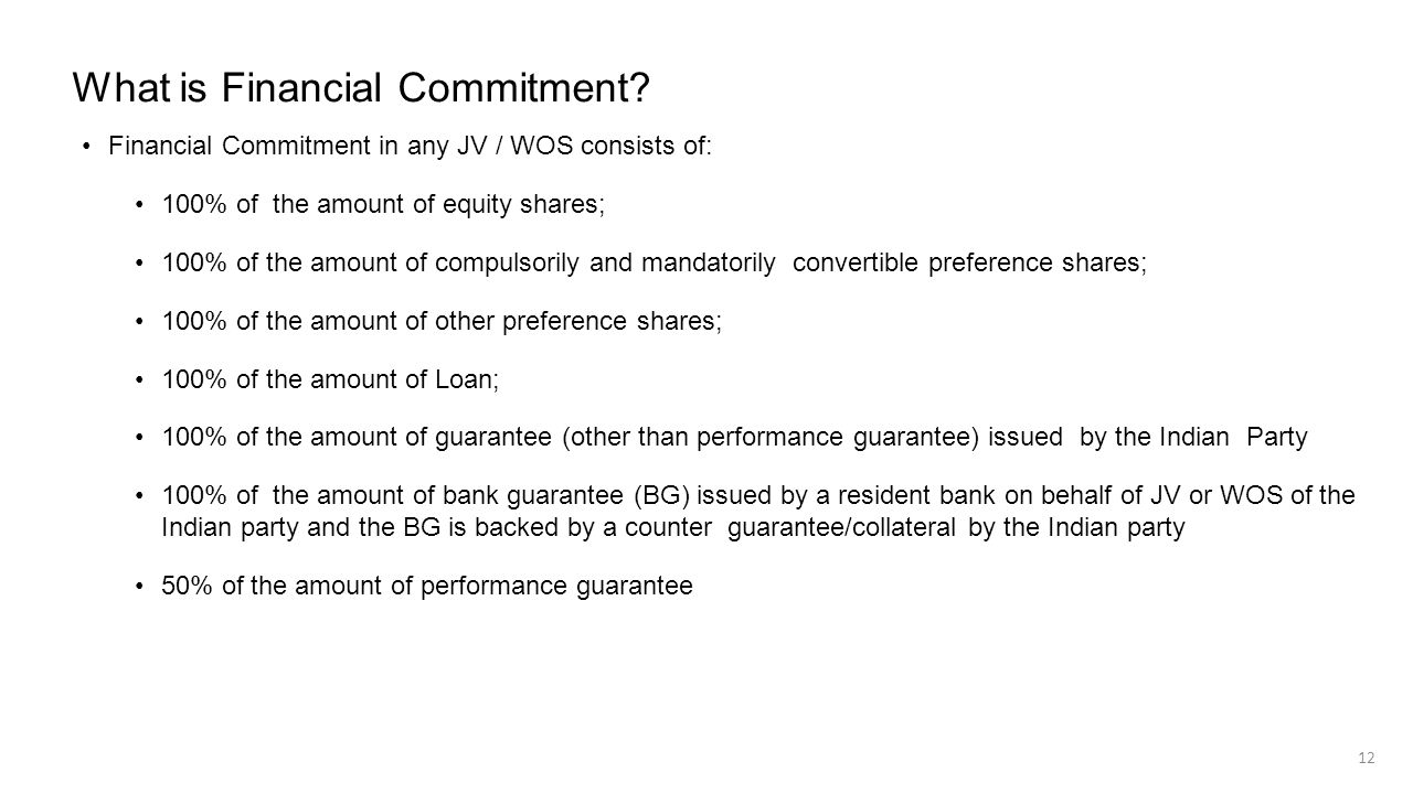What is Financial Commitment