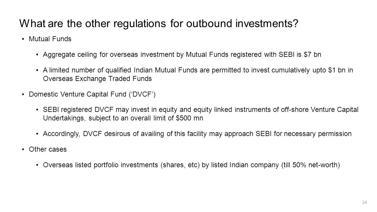 What are the other regulations for outbound investments