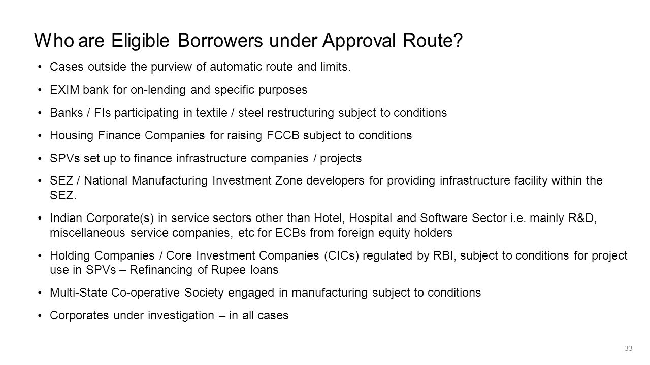 Who are Eligible Borrowers under Approval Route