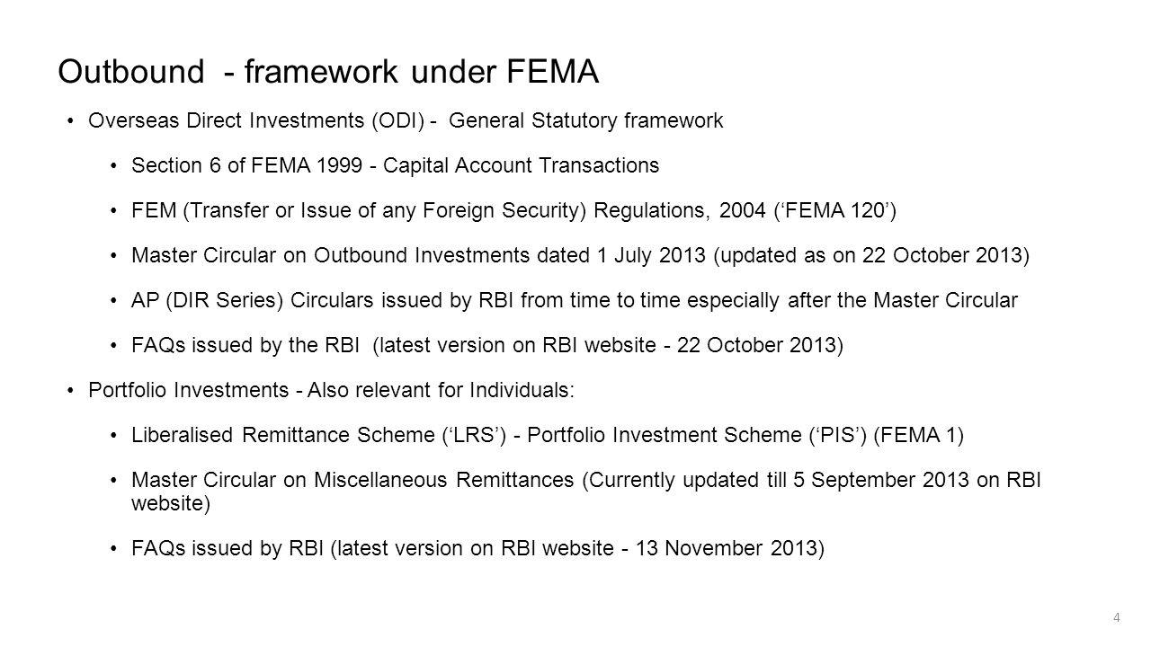 Outbound - framework under FEMA