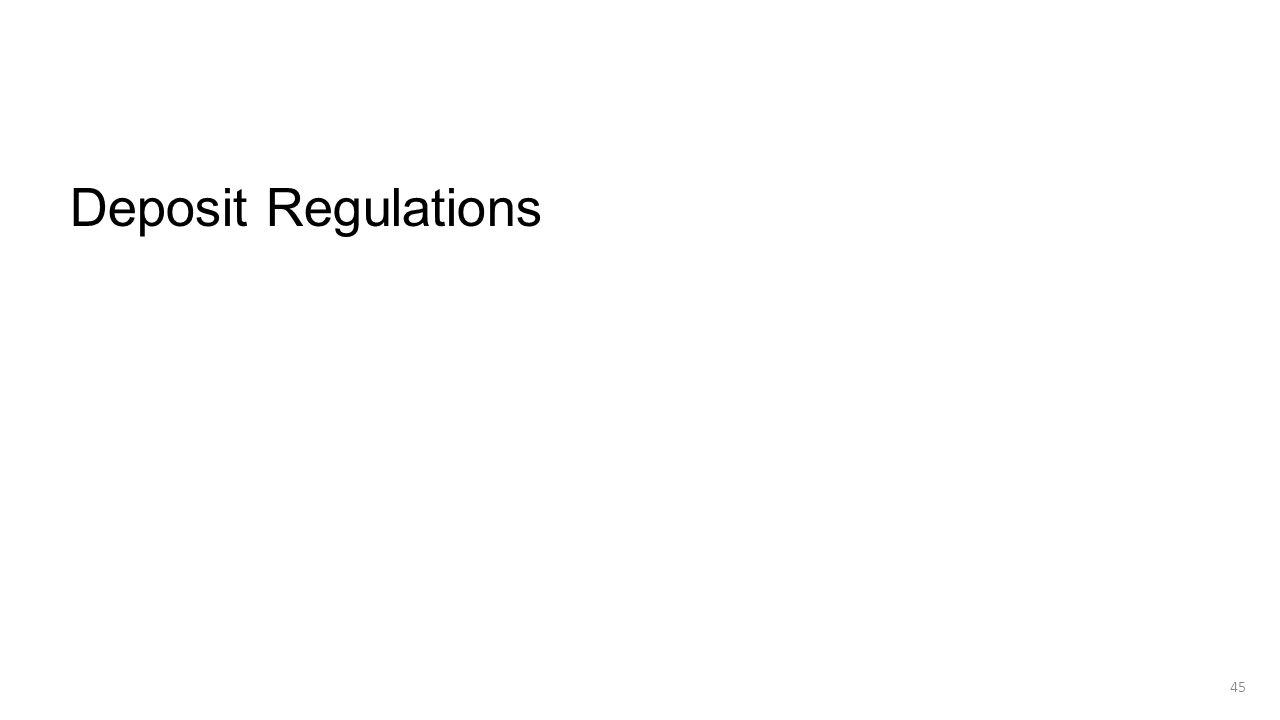 Deposit Regulations