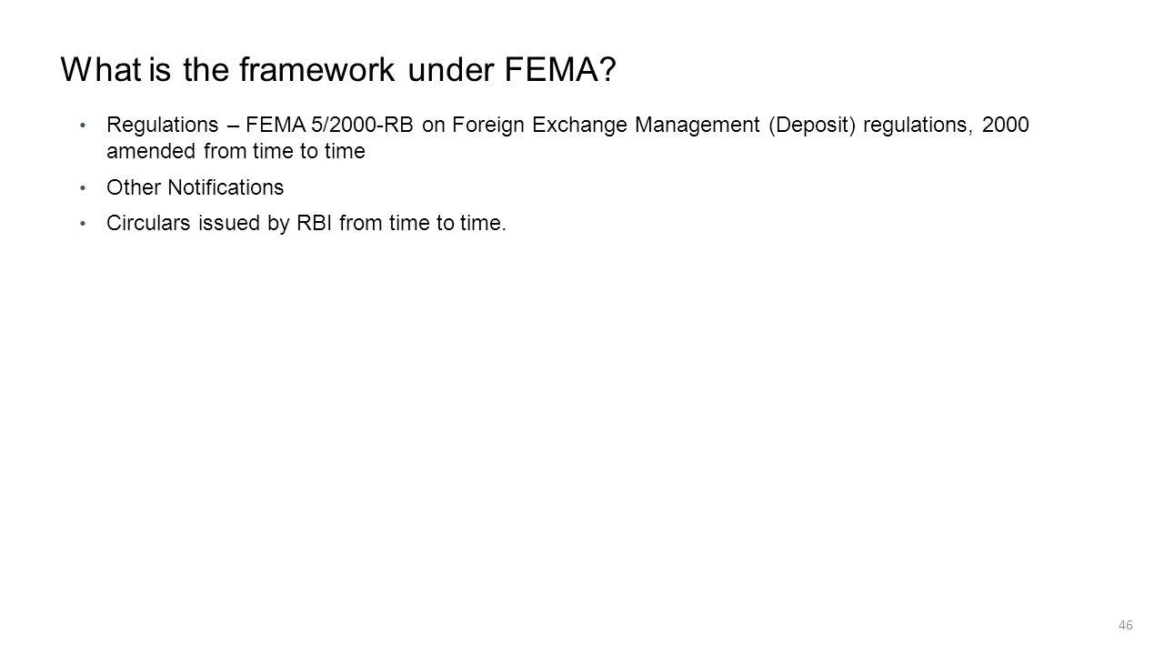 What is the framework under FEMA