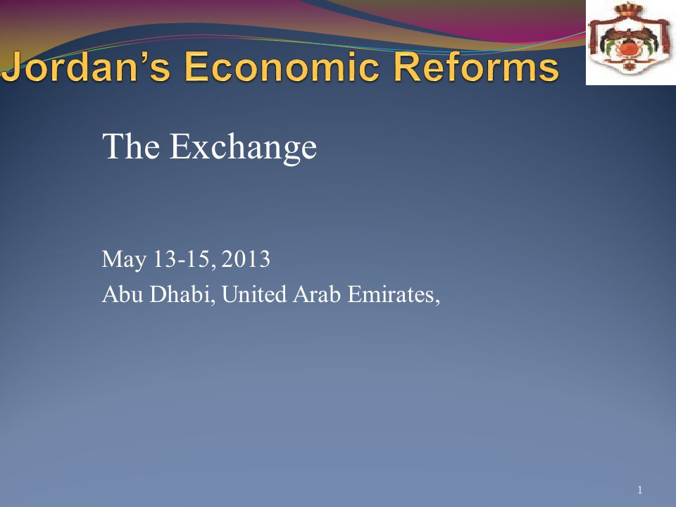 Jordan's Economic Reforms