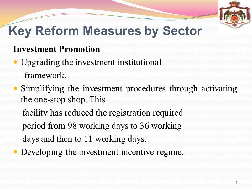 Key Reform Measures by Sector
