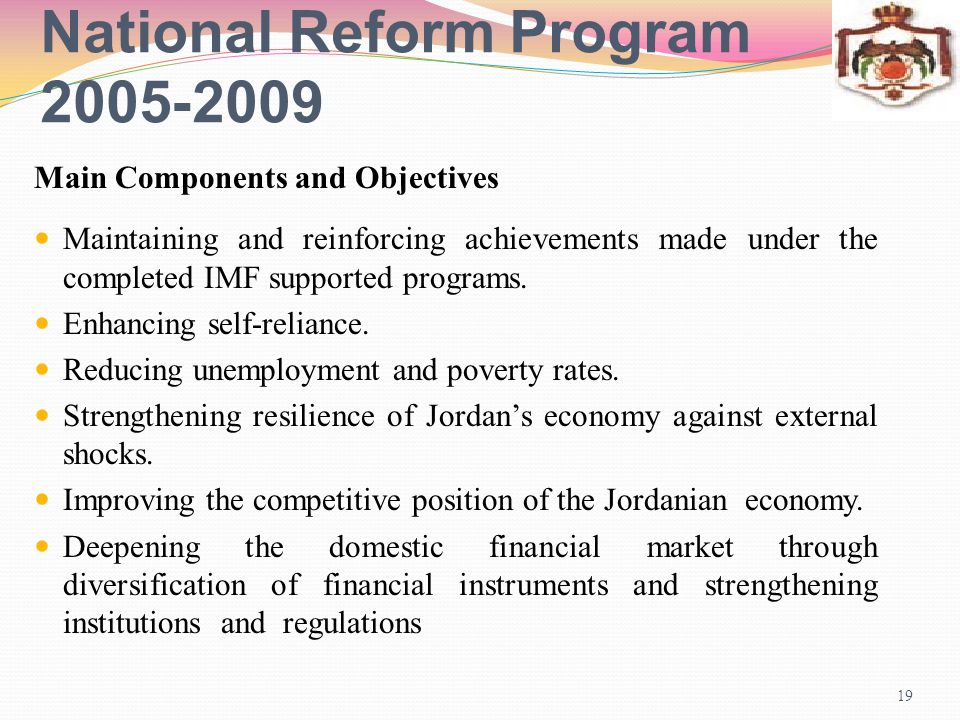 National Reform Program 2009-2005