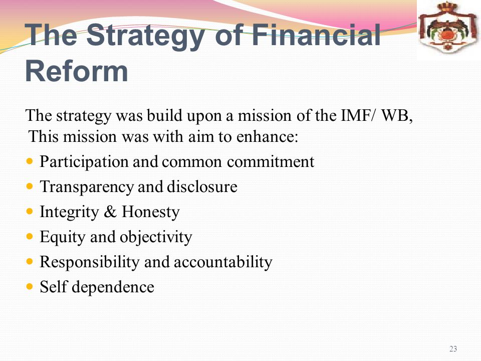 The Strategy of Financial Reform