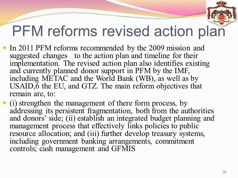 PFM reforms revised action plan