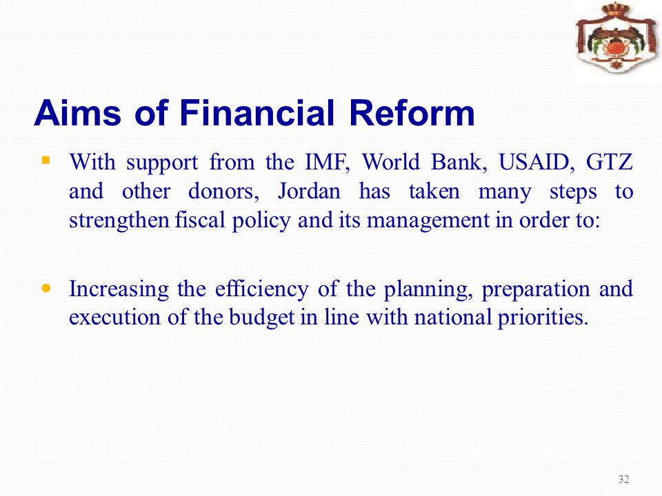 Aims of Financial Reform