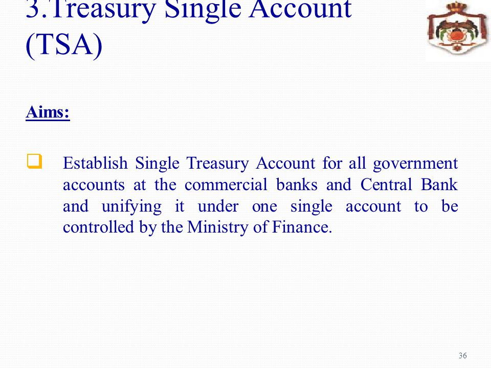 3.Treasury Single Account (TSA)