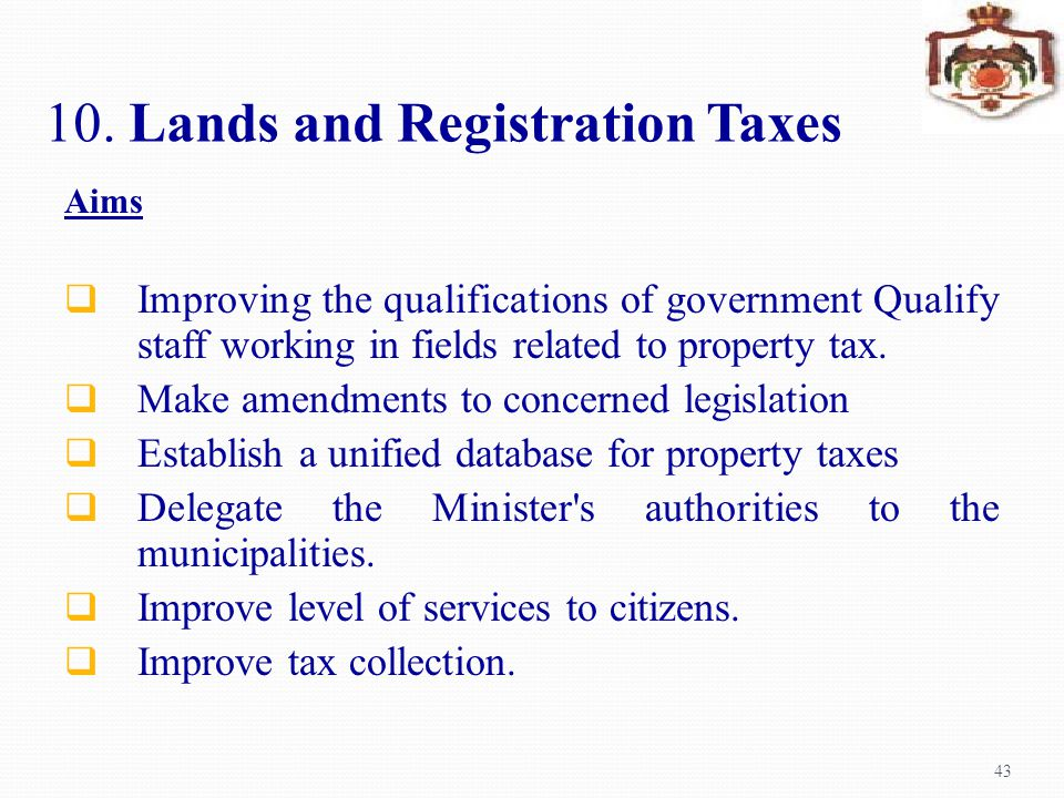 10. Lands and Registration Taxes