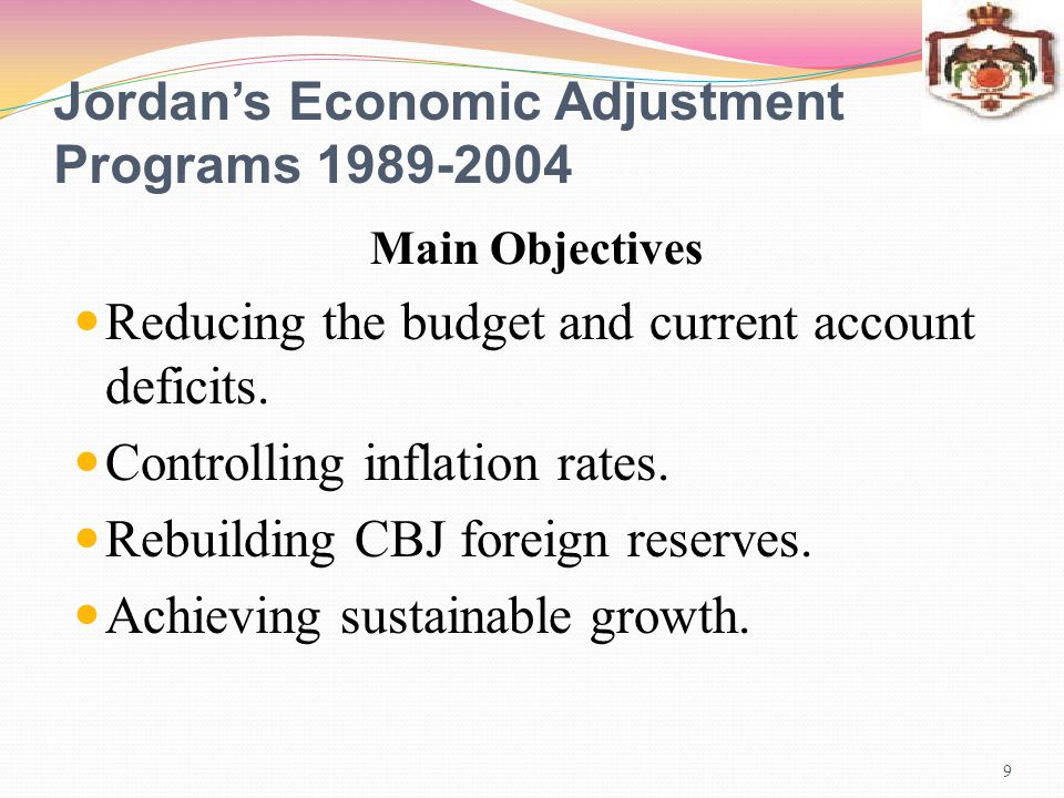 Jordan's Economic Adjustment Programs 1989-2004