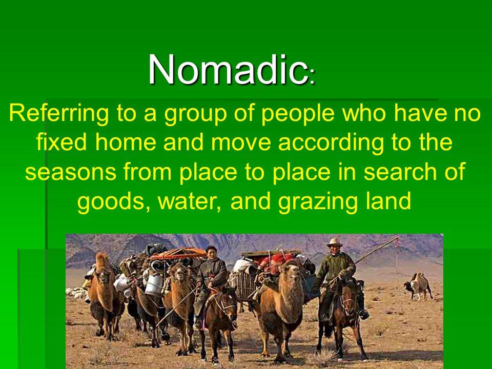 Nomadic: