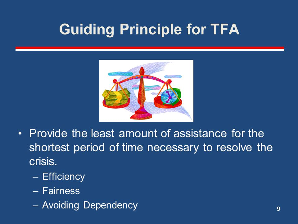 Guiding Principle for TFA