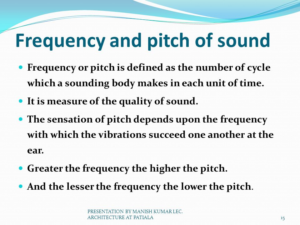 Frequency and pitch of sound