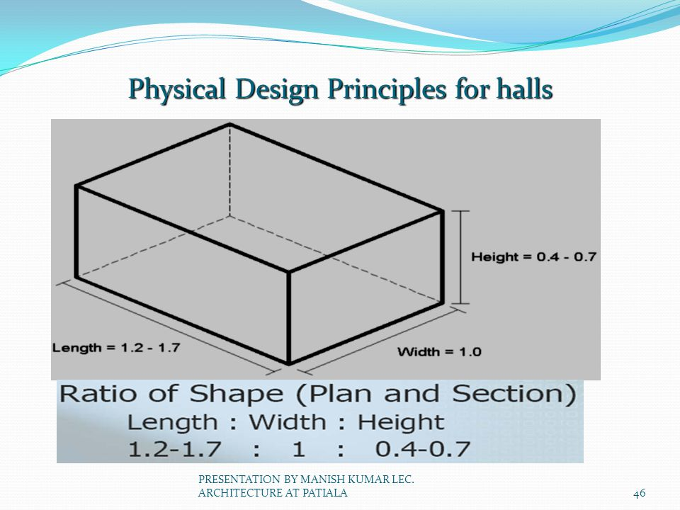 Physical Design Principles for halls
