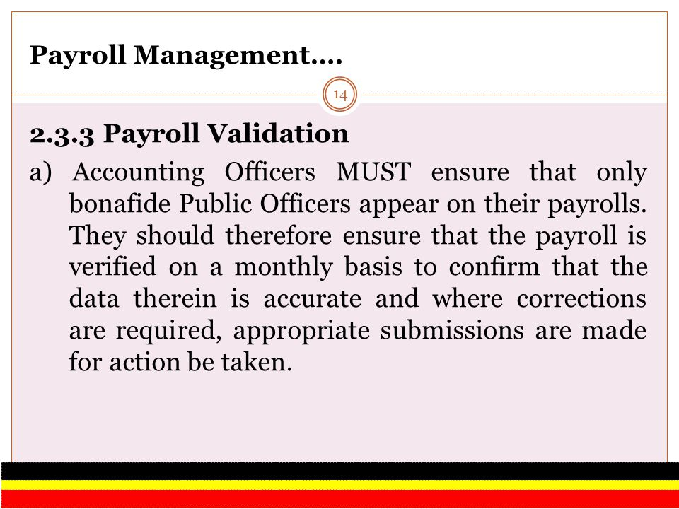 Payroll Management…. 2.3.3 Payroll Validation.