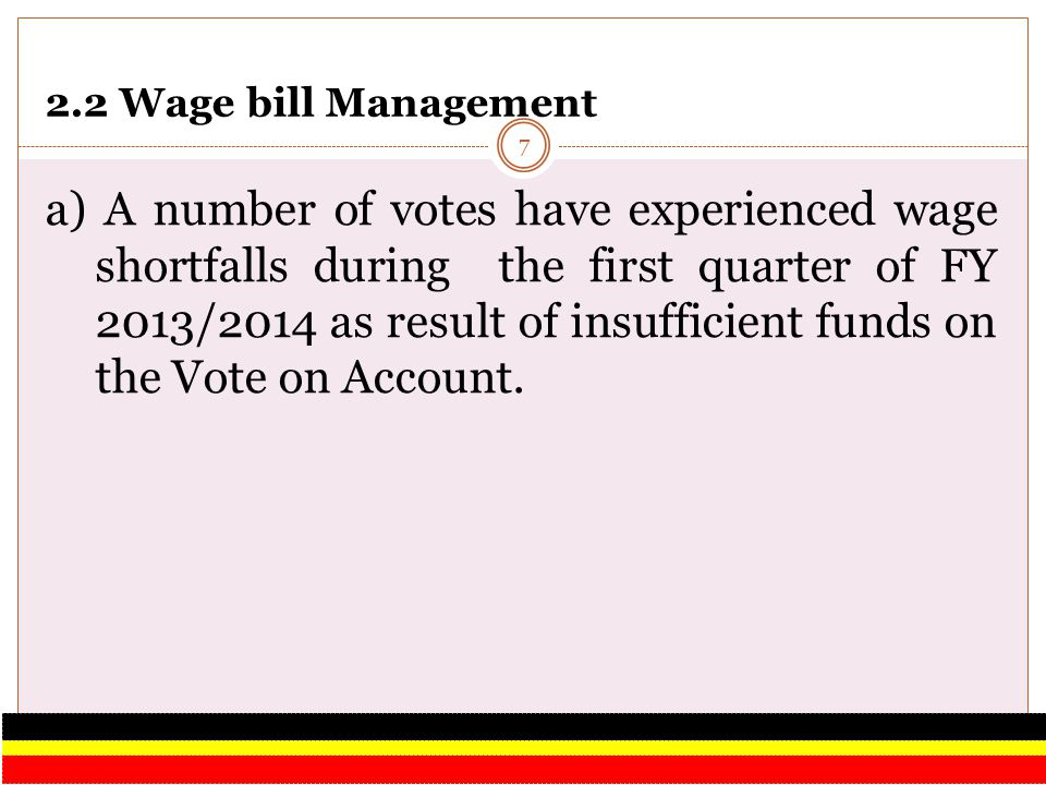 2.2 Wage bill Management