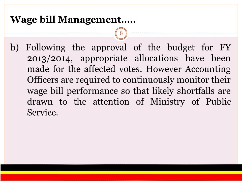 Wage bill Management…..